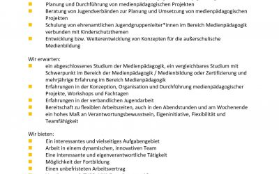 Bildungsreferent*in (60%-70%)(w/m/d)