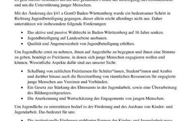 Positionspapier zur Landtagswahl 2021 in Baden-Württemberg